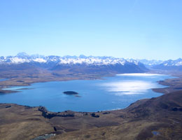 Lake Tekapo from above