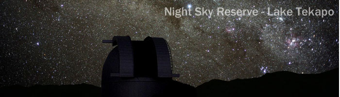 Feature on Tekapo. Night Sky Reserve 2009