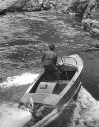 An early test of a developing jet boat