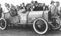 Bill Hamilton and his Sunbeam racing car