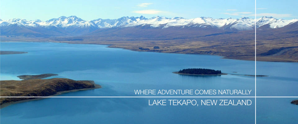 Lake Tekapo lake aerial view - New Zealand