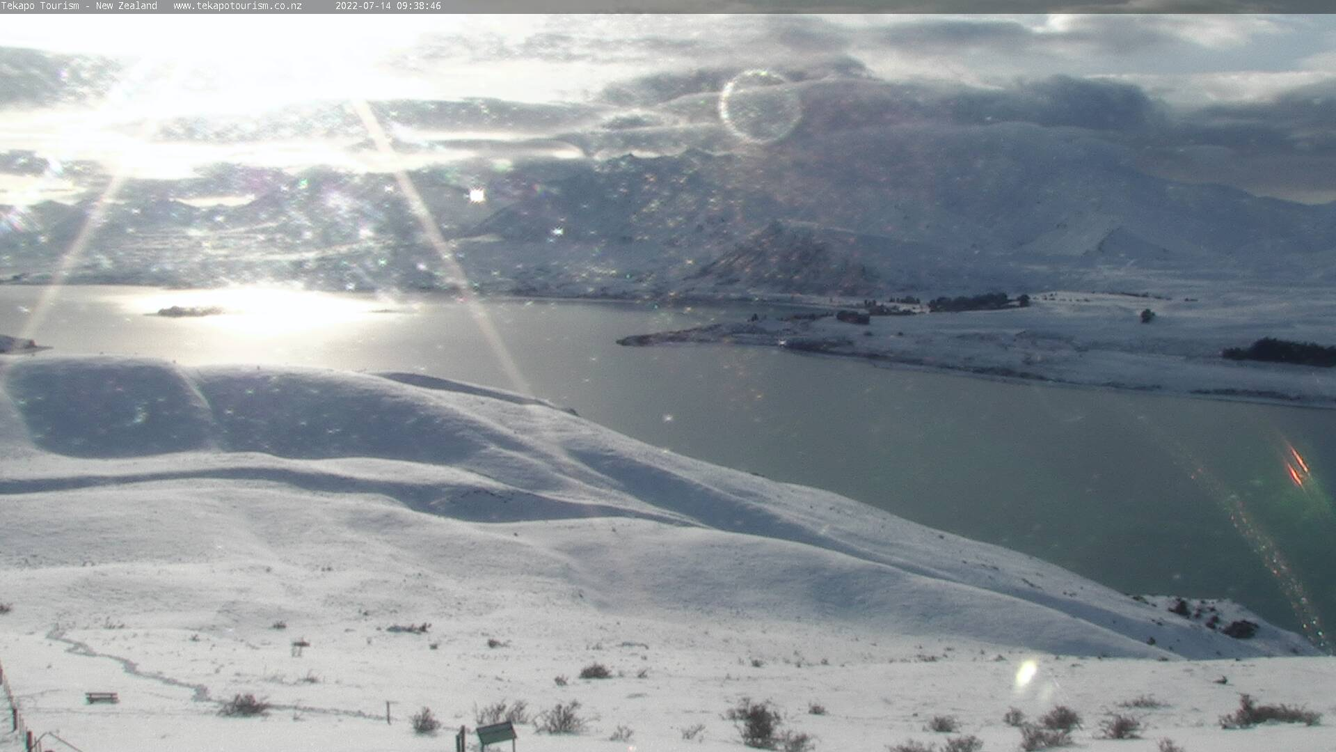 Tekapo Tourism webcam. North-East view.